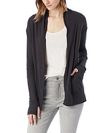 Rib Sleeve Eco-Jersey Women's Wrap Cardigan