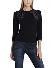 Vince Camuto Women's Studded Shoulder Sweater
