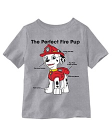 Toddler Boys The Perfect Fire Pup Marshall Graphic T-shirt