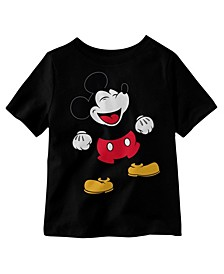 Little Boys Laughing Mickey Graphic T-shirt