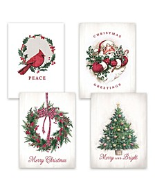 Christmas Past Assortment Holiday Boxed Cards, 16 Cards and 16 Envelopes