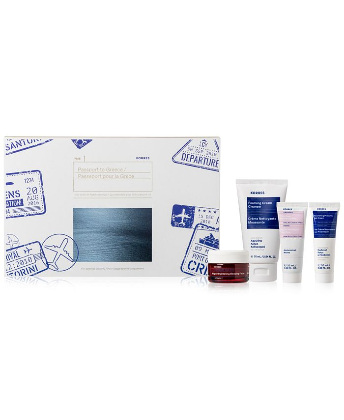KORRES - Korres 4-Pc. Passport To Greece Skincare Set