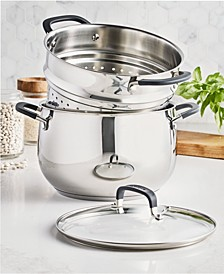 Stainless Steel 8-Qt. Stock Pot with Multi-Use Insert, Created for Macy's