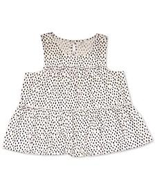 Sleeveless Polka-Dot Tunic, Created for Macy's