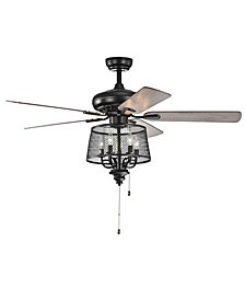 "Teoguf 52"" 2-Light Indoor Hand Pull Chain Ceiling Fan with Light Kit"