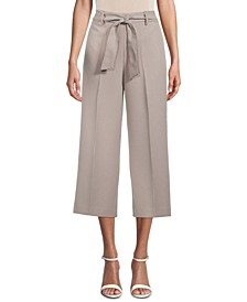 Tie-Waist Cropped Pants, Created for Macy's