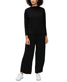 Boxy Funnel-Neck Top