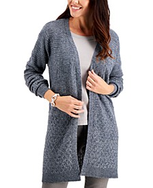 Plus Size Mixed-Stitch Cardigan, Created for Macy's