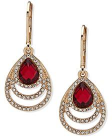 Gold-Tone Stone & Crystal Drop Earrings