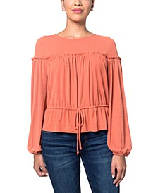 Ruffle Knit Top