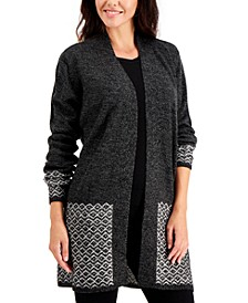 Pattern-Trim Cardigan, Created for Macy's