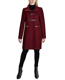 Petite Stand-Collar Coat