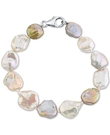 Cultured Freshwater Keshi Pearl (10-14mm) Bracelet