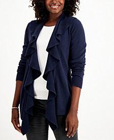 Luxsoft Ruffle-Trim Cardigan, Created for Macy's