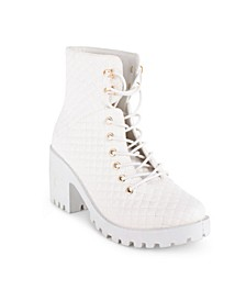 Women's Amari Lug Sole Quilted Combat Boots