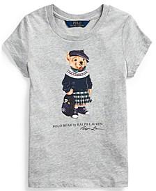 Little Girl Backpack Bear Cotton Tee