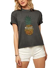 Juniors' Retro Pine Cotton Dunes Graphic T-Shirt