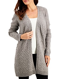 Turbo Mixed-Stitch Cardigan, Created for Macy's
