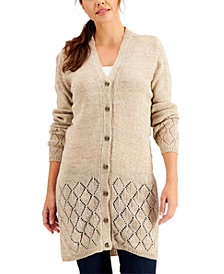 Karen Scott Button-Up Duster Cardigan, Created for Macy's