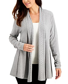 Mixed-Stitch Open Cardigan, Created for Macy's