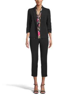 Floral-Print Tie-Neck Blouse, Created for Macy's