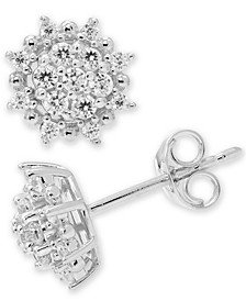Diamond Cluster Stud Earrings (3/8 ct. t.w.) in 14k White or 14k Gold