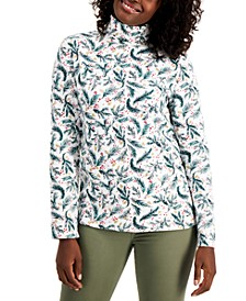 Holly Berry-Print Turtleneck Top, Created for Macy's