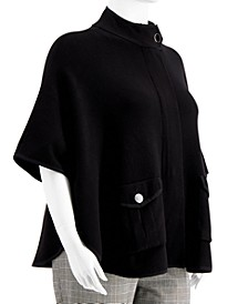 Plus Size High-Neck Capelet