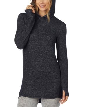 Soft Knit Long-Sleeve Tunic Hoodie
