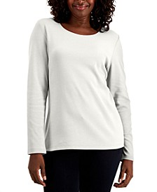 Cotton Long-Sleeve T-Shirt, Created for Macy's