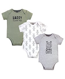 Boys and Girls Bear, Bodysuits, Pack of 3
