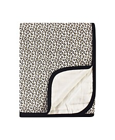 Baby Boys and Girls Leopard Muslin Tranquility Quilt Blanket
