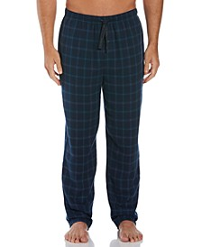 Perry Ellis Men's Houndstooth Plaid Flannel Pajama Pants