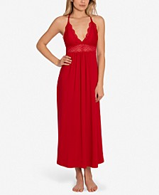 Lace-Trim Long Nightgown