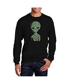 Big & Tall Men's Word Art Alien Crewneck Sweatshirt