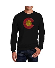 Men's Word Art Colorado Crewneck Sweatshirt