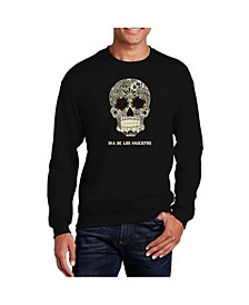Men's Word Art Dia De Los Muertos Crewneck Sweatshirt