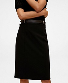 Women's Pencil Belt Skirt