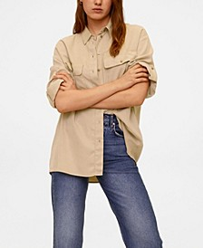 Women's Pockets Flowy Shirt