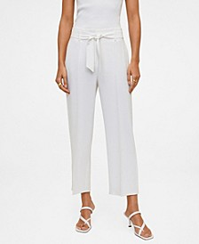 Women's Belt Crop Pants