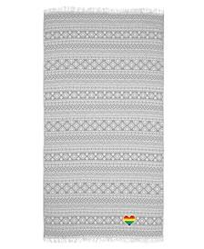Sea Breeze Cheerful Rainbow Heart Pestemal Beach Towel