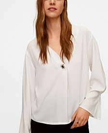 Women's Jewel Button Blouse