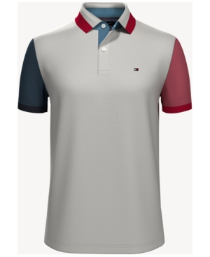 Tommy Hilfiger Men's Custom Fit Colorblock Polo Shirt