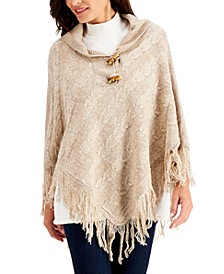 Turbo Toggle-Button Poncho, Created for Macy's