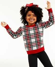 Toddler Girls Plaid Sweater, Created for Macy's