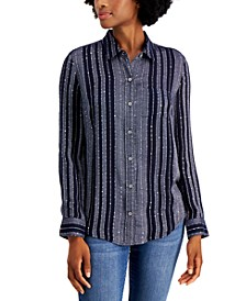 Sparkle Plaid-Print Shirt, Created for Macy's