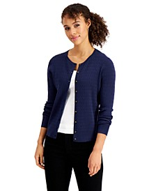 Cable-Knit Button-Up Cardigan, Created For Macy's