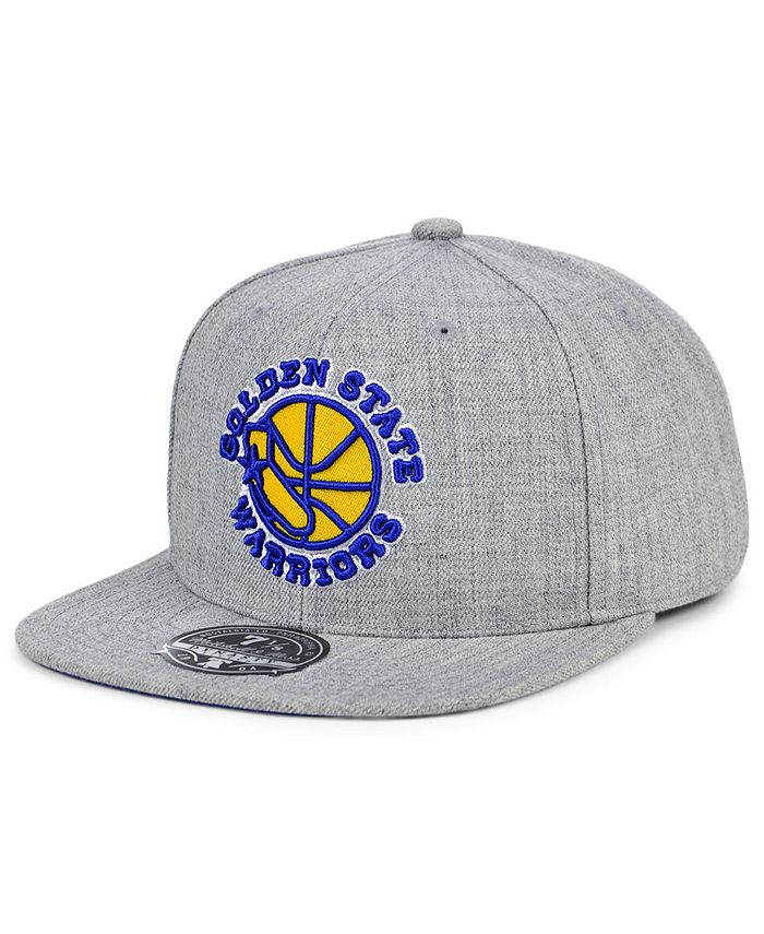 Mitchell & Ness - Golden State Warriors Hardwood Classic Team Heather Fitted Cap