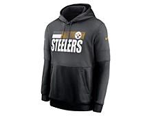 Nike Men's Pittsburgh Steelers Sideline Team Lockup Therma Hoodie