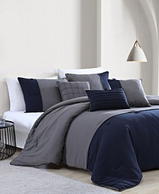 House Tillman Enzyme 6 Piece Color Block Comforter Set, King